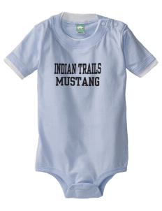 Indian Trails Middle School Mustang Baby One-Piece with Shoulder Snaps