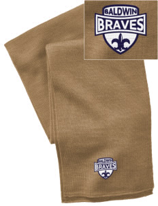 Baldwin Academy Braves  Embroidered Knitted Scarf