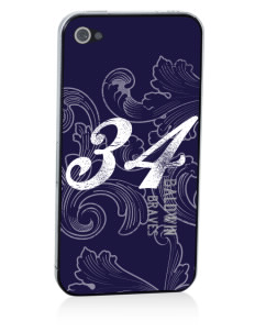 Baldwin Academy Braves Apple iPhone 4/4S Skin
