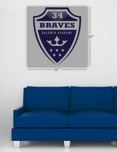 "Baldwin Academy Braves Wall Poster Decal 36"" x 36"""