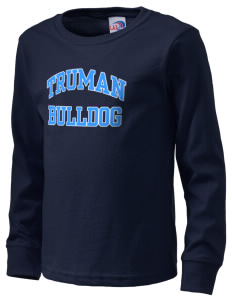 Truman high school Bulldog  Kid's Long Sleeve T-Shirt