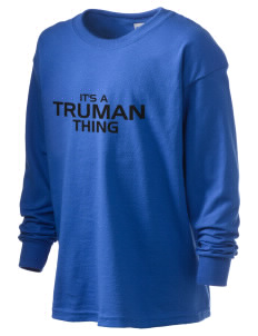 Truman high school Bulldog Kid's 6.1 oz Long Sleeve Ultra Cotton T-Shirt