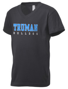 Truman high school Bulldog Kid's V-Neck Jersey T-Shirt