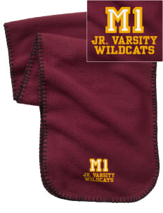 Madison 1 Middle School Wildcats Embroidered Fleece Scarf