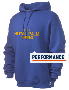 Royal Palm Junior High School Raiders Russell Men's Dri-Power Hooded Sweatshirt