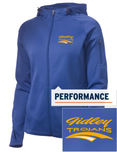 Gidley Elementary School Trojans Embroidered Women's Tech Fleece Full-Zip Hooded Jacket