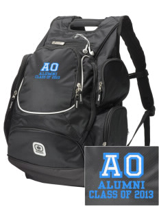 Alpha Omega Academy We don't have one.  We have a logo  Embroidered OGIO Bounty Hunter Backpack