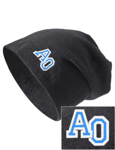 Alpha Omega Academy We don't have one.  We have a logo Embroidered Slouch Beanie