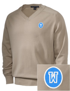 Alpha Omega Academy We don't have one.  We have a logo Embroidered Men's V-Neck Sweater