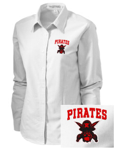 Robert Louis Stevenson Elementary School Pirates Embroidered Women's Classic Oxford
