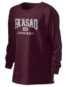 fa'asao high cougars Kid's 6.1 oz Long Sleeve Ultra Cotton T-Shirt