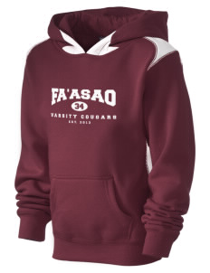 fa'asao high cougars Kid's Pullover Hooded Sweatshirt with Contrast Color