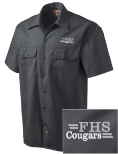fa'asao high cougars Embroidered Dickies Men's Short-Sleeve Workshirt