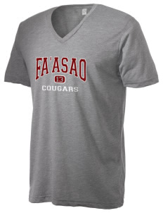 fa'asao high cougars Alternative Men's 3.7 oz Basic V-Neck T-Shirt