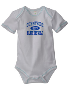 Sunnyside High School Blue Devils Baby Zig-Zag Creeper