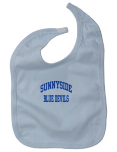 Sunnyside High School Blue Devils Baby Interlock Bib