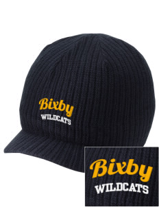 Bixby Elementary School Wildcats Embroidered Knit Beanie with Visor