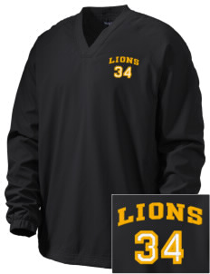 Warren Lane Elementary School Lions Embroidered Men's V-Neck Raglan Wind Shirt