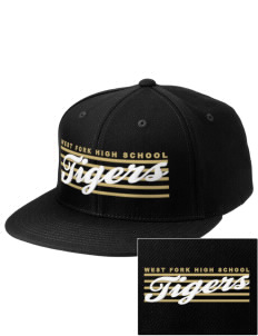 West Fork High School Tigers Embroidered Puffy 3D Diamond Series Fitted Cap