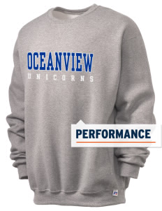 Oceanview Elementary School Unicorns  Russell Men's Dri-Power Crewneck Sweatshirt
