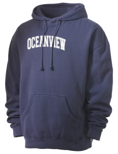Oceanview Elementary School Unicorns Men's 80/20 Pigment Dyed Hooded Sweatshirt
