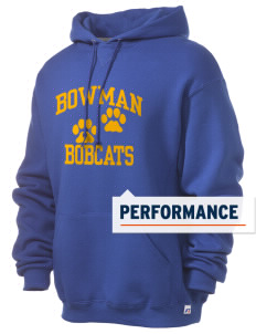 Bowman Elementary School Bobcats Russell Men's Dri-Power Hooded Sweatshirt