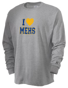 Mount Eden High School Monarchs  Russell Men's Long Sleeve T-Shirt