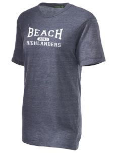 Beach Elementary School Highlanders Alternative Unisex Eco Heather T-Shirt