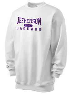 Jefferson Elementary School Jaguars Men's 7.8 oz Lightweight Crewneck Sweatshirt