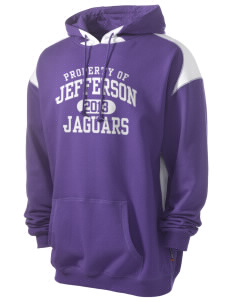 Jefferson Elementary School Jaguars Men's Pullover Hooded Sweatshirt with Contrast Color