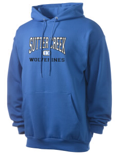 Sutter Creek Elementary School Wolverines Men's 7.8 oz Lightweight Hooded Sweatshirt
