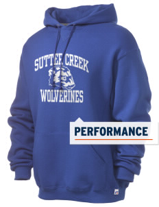 Sutter Creek Elementary School Wolverines Russell Men's Dri-Power Hooded Sweatshirt