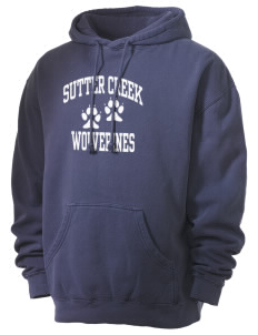 Sutter Creek Elementary School Wolverines Men's 80/20 Pigment Dyed Hooded Sweatshirt