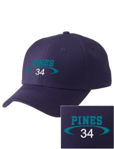 Pines Elementary School Cougars  Embroidered New Era Adjustable Structured Cap