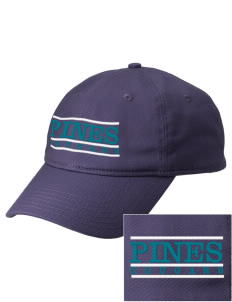 Pines Elementary School Cougars  Embroidered New Era Adjustable Unstructured Cap