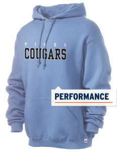 Pines Elementary School Cougars Russell Men's Dri-Power Hooded Sweatshirt