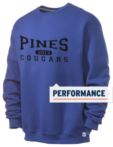 Pines Elementary School Cougars  Russell Men's Dri-Power Crewneck Sweatshirt