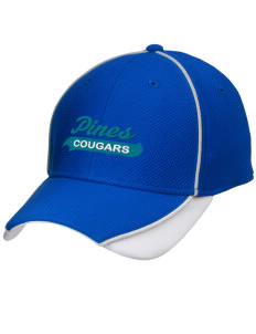 Pines Elementary School Cougars Embroidered New Era Contrast Piped Performance Cap