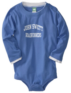 John Swett Elementary School Roadrunners  Baby Long Sleeve 1-Piece with Shoulder Snaps