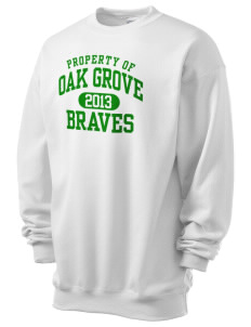 Oak Grove Middle School Braves Men's 7.8 oz Lightweight Crewneck Sweatshirt