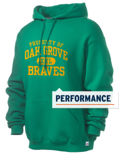 Oak Grove Middle School Braves Russell Men's Dri-Power Hooded Sweatshirt