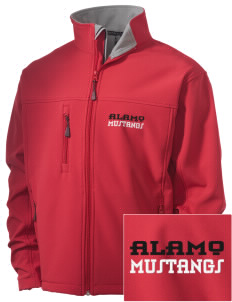 Alamo Elementary School Mustangs Embroidered Men's Soft Shell Jacket