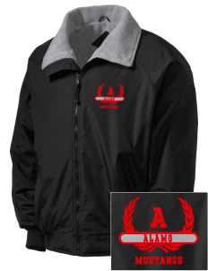 Alamo Elementary School Mustangs Embroidered Men's Fleece-Lined Jacket