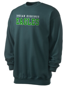 Indian Diggings Elementary School Eagles Men's 7.8 oz Lightweight Crewneck Sweatshirt