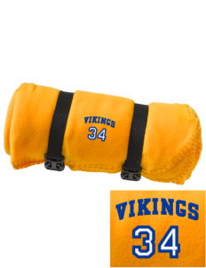 South Tahoe High School Vikings Embroidered Fleece Blanket with Strap