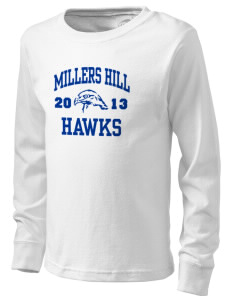 Millers Hill Middle School Hawks  Kid's Long Sleeve T-Shirt