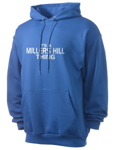 Millers Hill Middle School Hawks Men's 7.8 oz Lightweight Hooded Sweatshirt