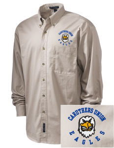Caruthers Union Elementary School Eagles Embroidered Men's Twill Shirt