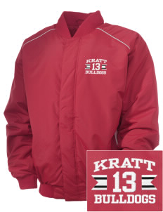 Kratt Elementary School Bulldogs Embroidered Russell Men's Baseball Jacket