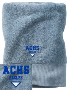 Aurora Continuation High School Eagles Embroidered Zero Twist Resort Towel